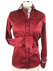 CR Classic Red Cotton Sateen with  Contrast