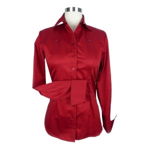CR Classic Dark Red Cotton Sateen