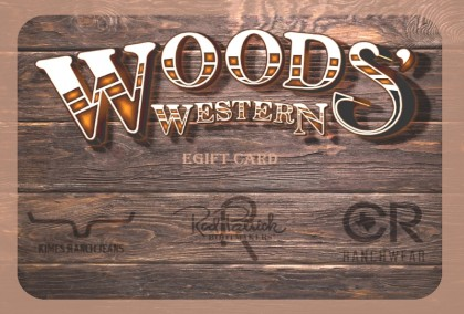 Woods' Western eGift Card