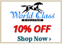 10% off All World Class Equine Bags and Carriers